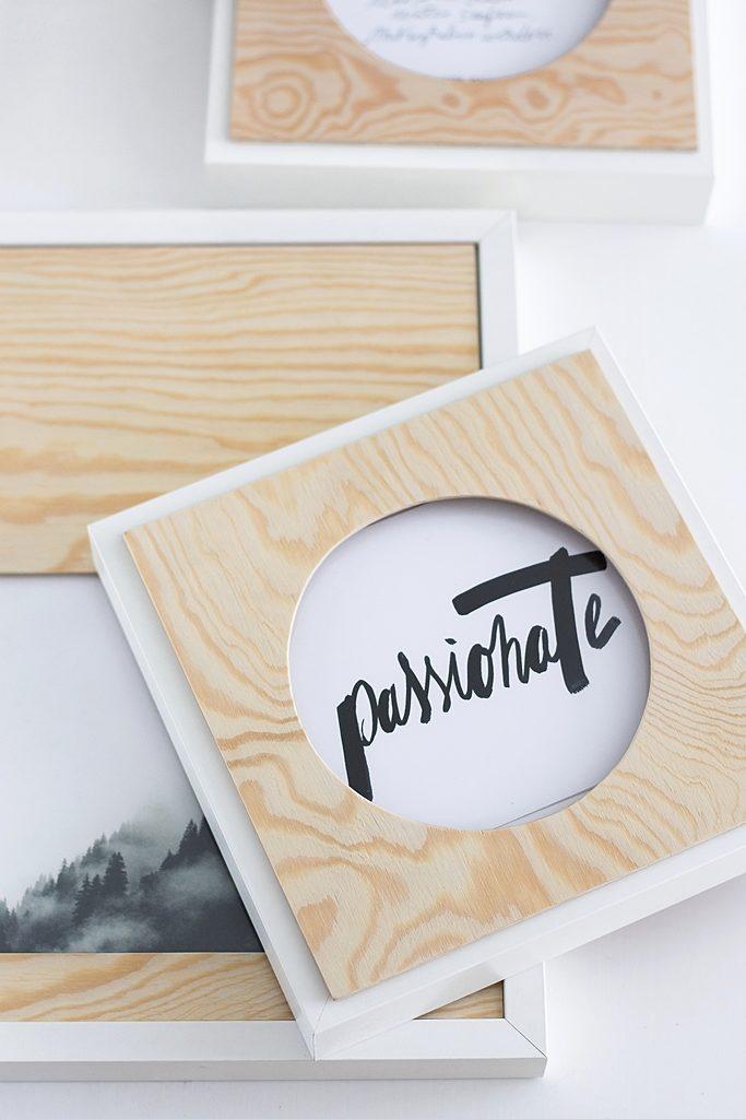 DIY Passepartout aus Holz