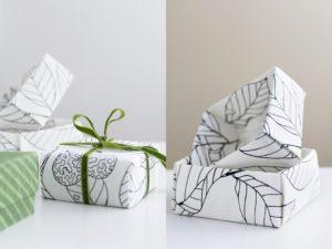 DIY Origamischachteln Stoff