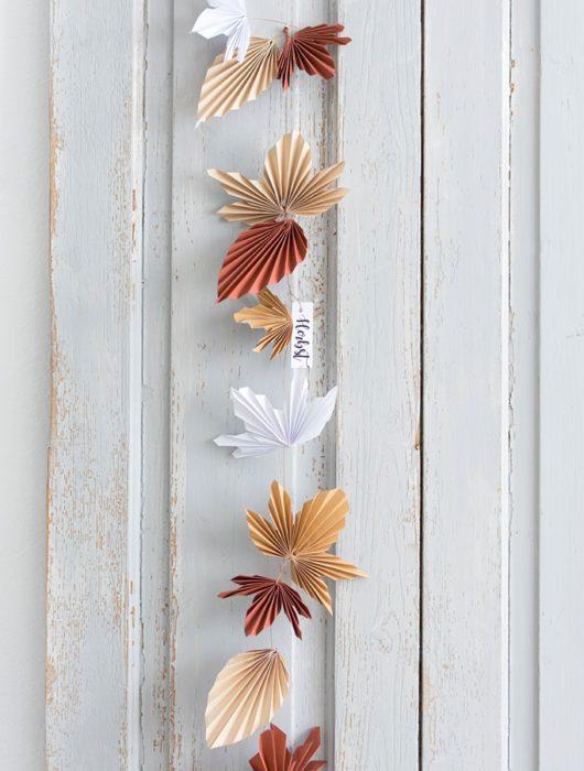 DIY Blättergirlande Herbst