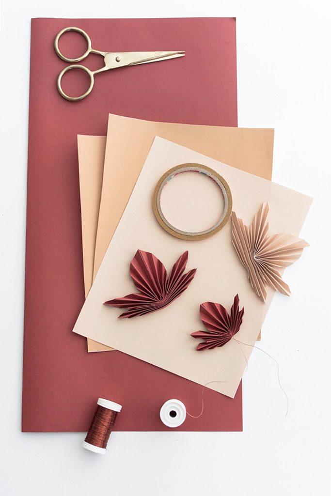 DIY | Herbstliche Blättergirlande aus Papier