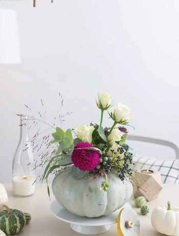 DIY Kürbis Vase