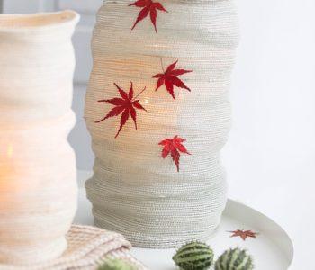 DIY Windlicht aus Tischsets basteln