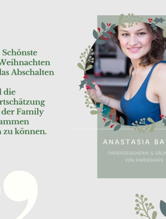 So feiert Anastasia Baron von PaperShape