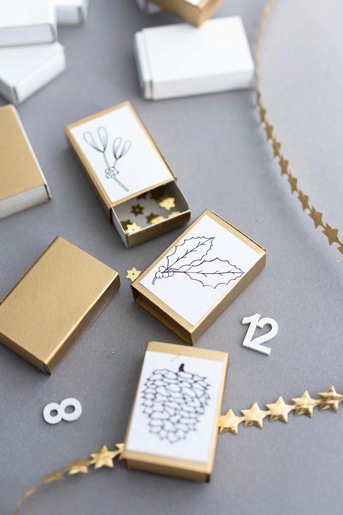 24x Vorfreude: DIY Adventkalender aus Streichholzschachteln