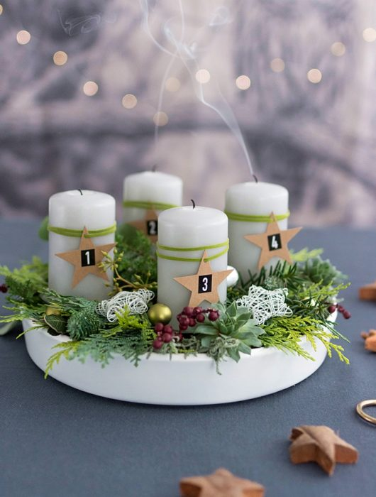 DIY Adventkranz MEIN HOFER