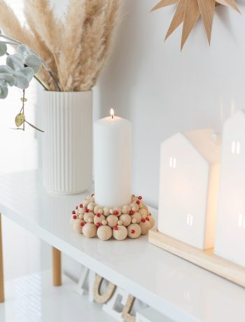 DIY Holzkugel Kerzenhalter