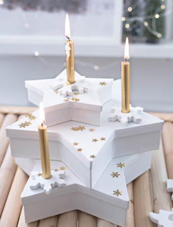 Schneeflocken aus Modelliermasse DIY