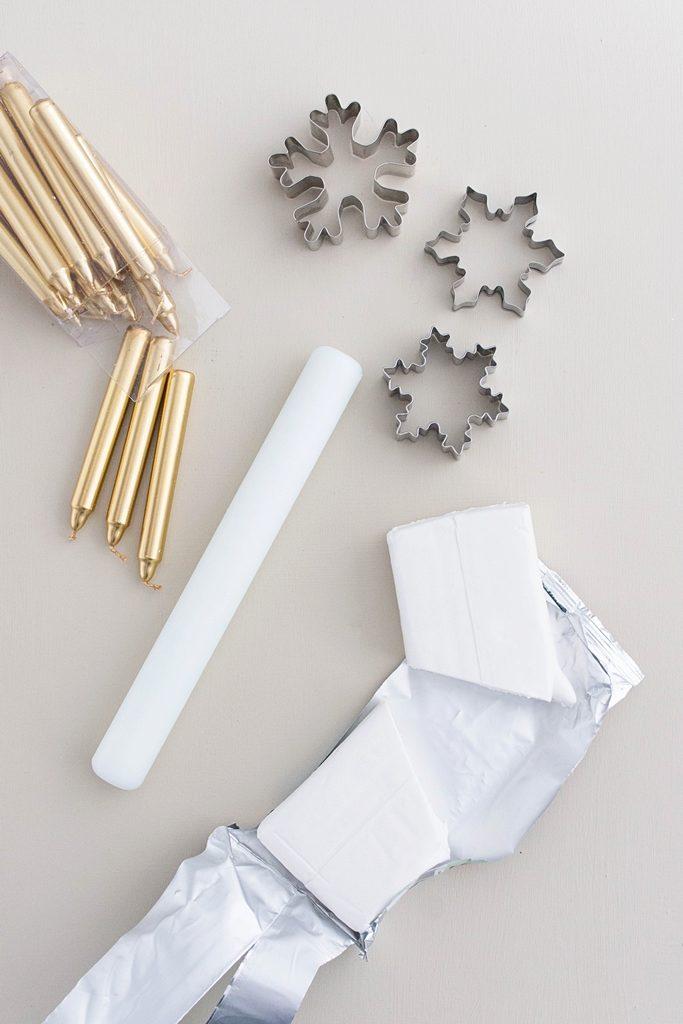 Schneeflocken Kerzenhalter Material