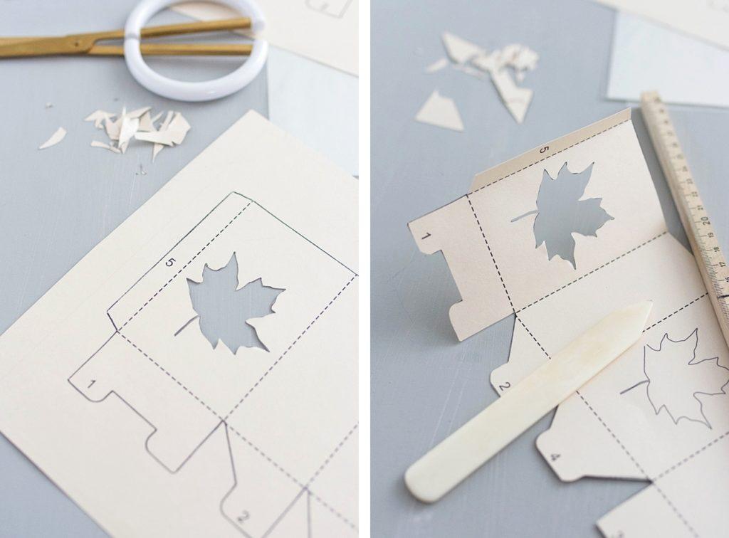 Herbstliche Windlichter aus Papier selber basteln – inkl. Vorlage