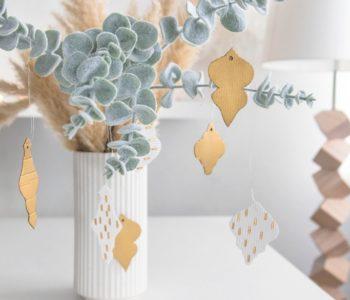 Baumanhänger DIY Weihnachtsdeko aus Pappe