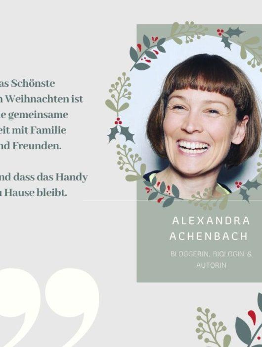 So feiert Alexandra Achenbach Weihnachten