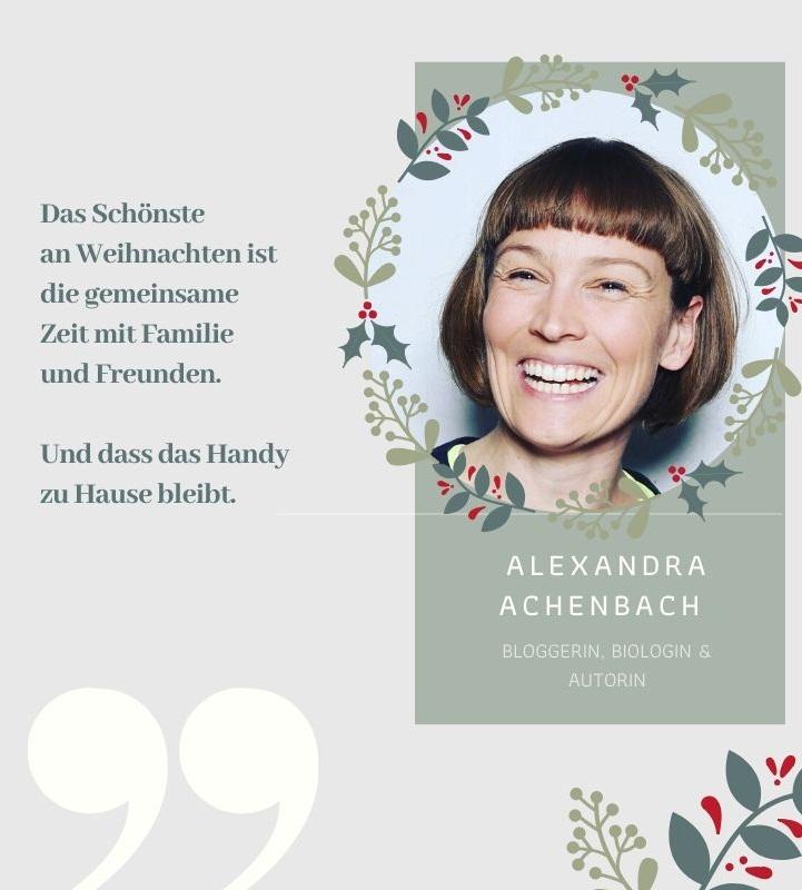 So feiert Nachhaltigkeits-Bloggerin Alexandra Achenbach Weihnachten