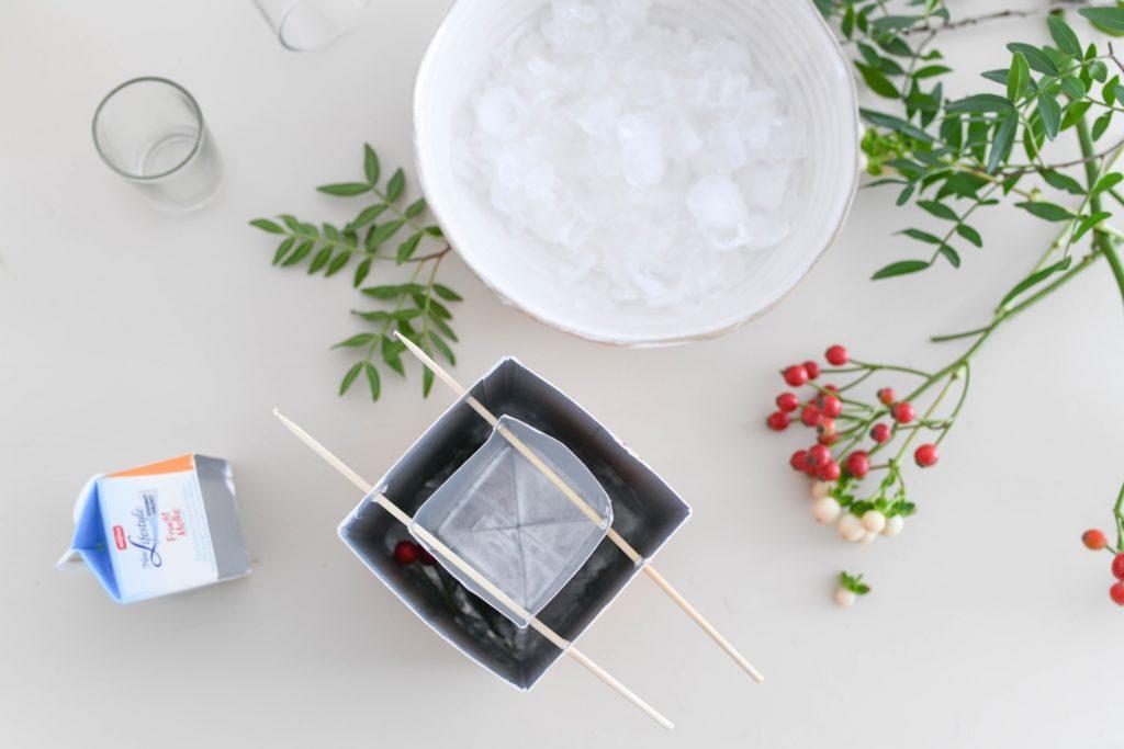 Winter Deko für Minusgrade: DIY Eislichter mit Naturmaterialien
