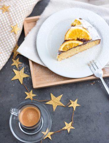 Einfacher Orangen Schoko Kuchen
