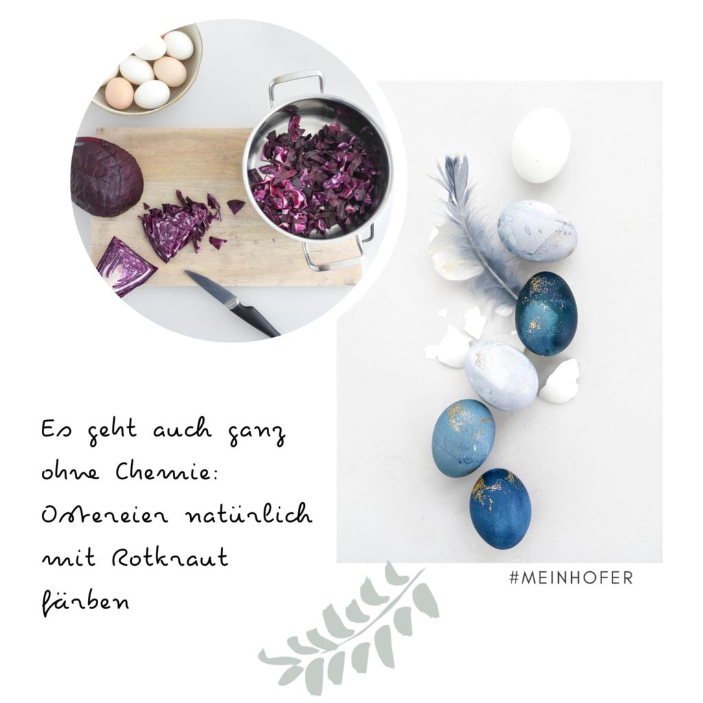 DIY: Ostereier mit Rotkohl färben #meinhofer #dabinichmirsicher #hoferat