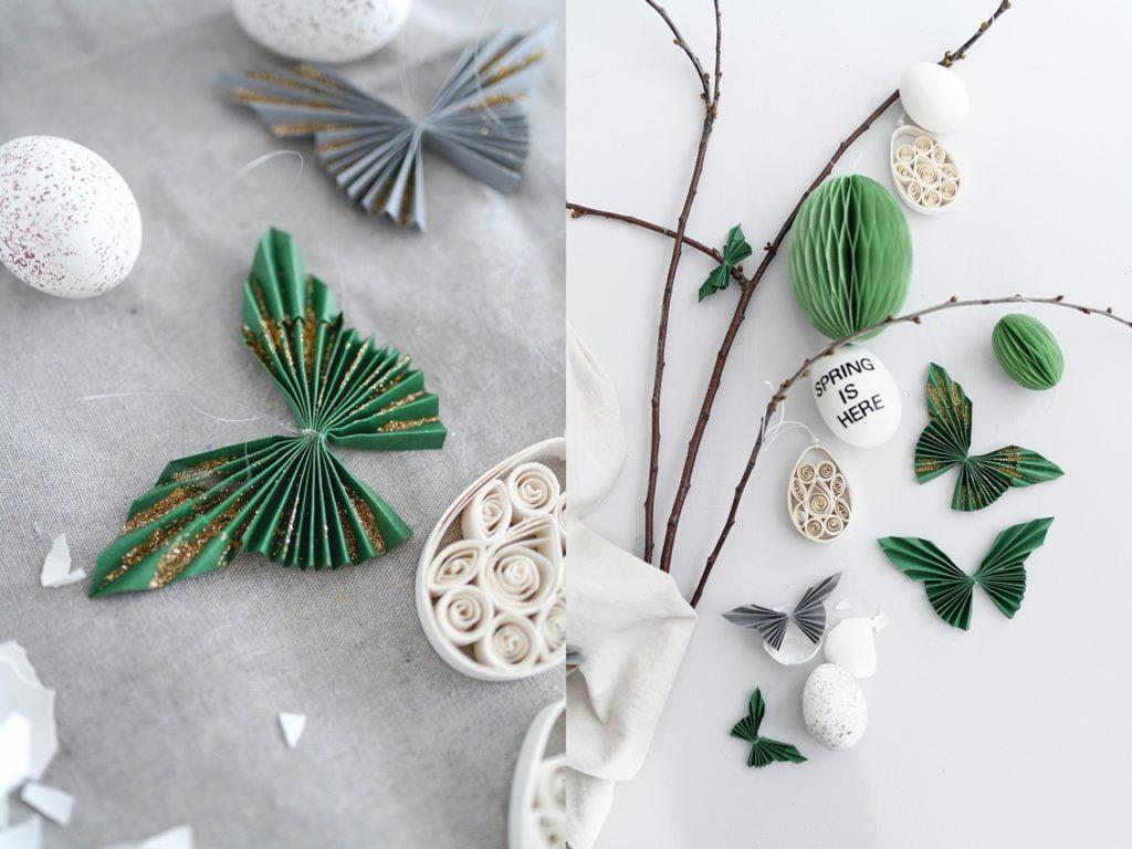 #creativeathome | Dekorative Schmetterlinge ganz einfach aus Papier falten