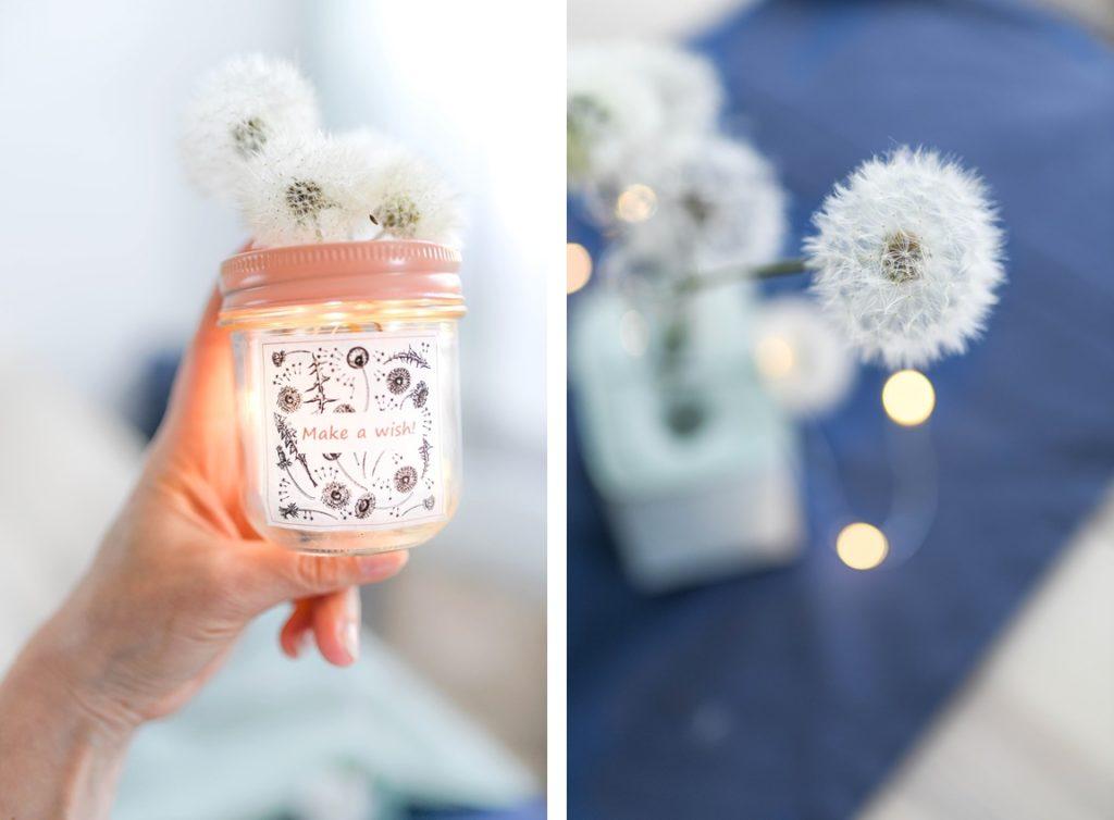 DIY: Wünsche verschenken – Pusteblumen im Glas