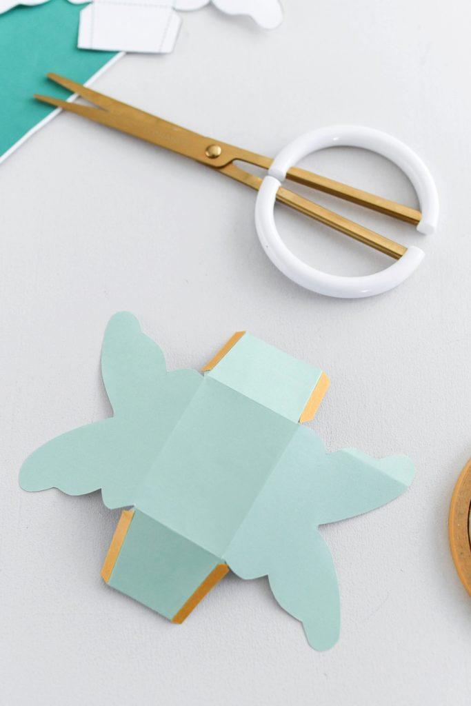 DIY Schmetterlings Schachtel zum falten