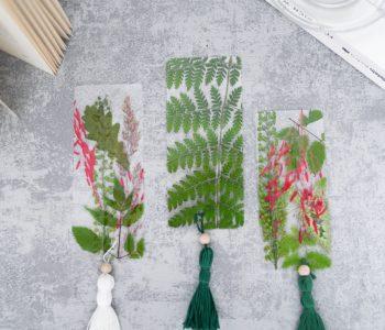 DIY Lesezeichen mit Blumen