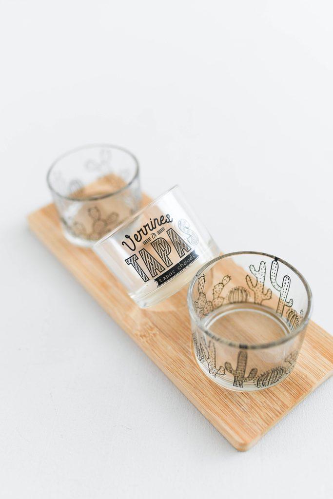 Vorher-Nachher: Vom Tapas-Glas zum Mini-Kräutertopf in edler Granit-Optik