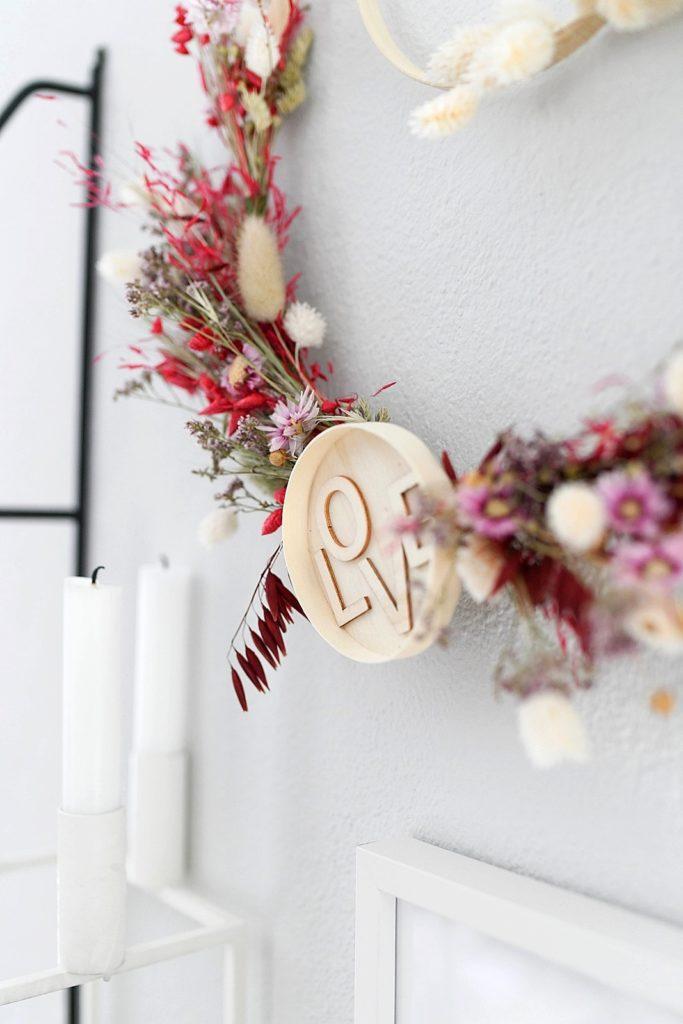 DIY Kranz aus Trockenblumen binden