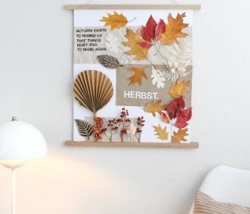Herbstliches Moodboard gestalten