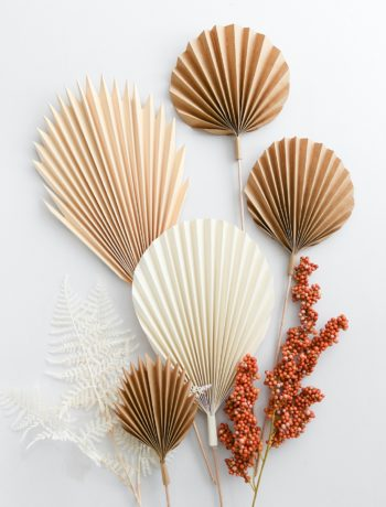DIY: Palmenblätter aus Papier selber falten inkl. Vorlage