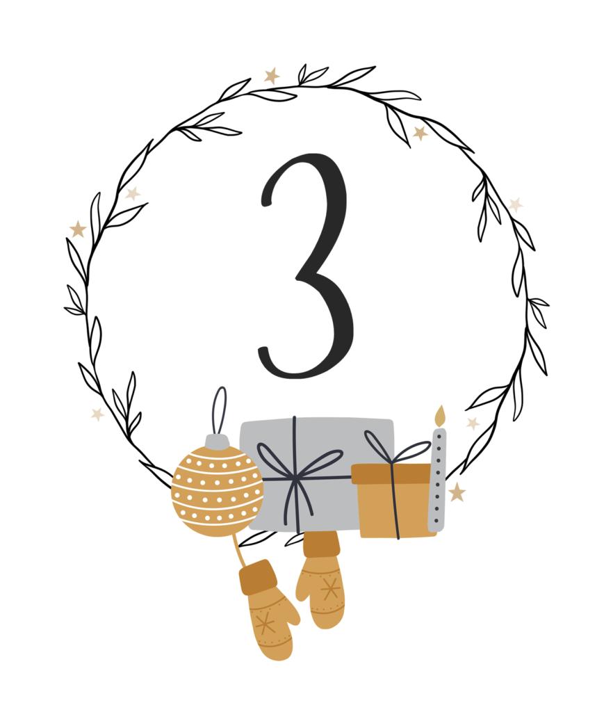 Kreativ-Adventskalender #3: Weihnachtlicher Wandkranz aus Papier