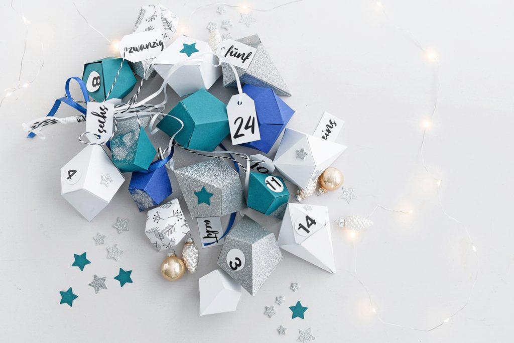 Der schönste Countdown des Jahres: DIY Adventkalender aus Papier-Diamanten