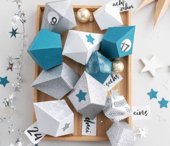 DIY Adventkalender mit Papier Diamanten