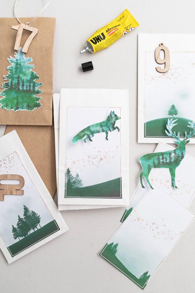 DIY Adventkalender Waldtiere