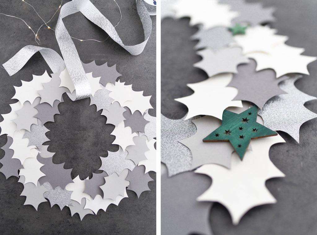 DIY Ilex Kranz aus Papier