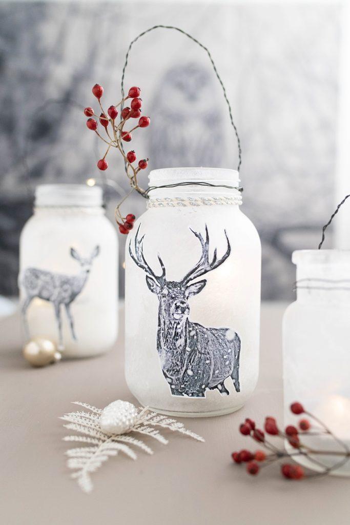 Kreativer Adventskalender Nr. 4: Eisige schöne Laternen mit niedlichen Tiermotiven