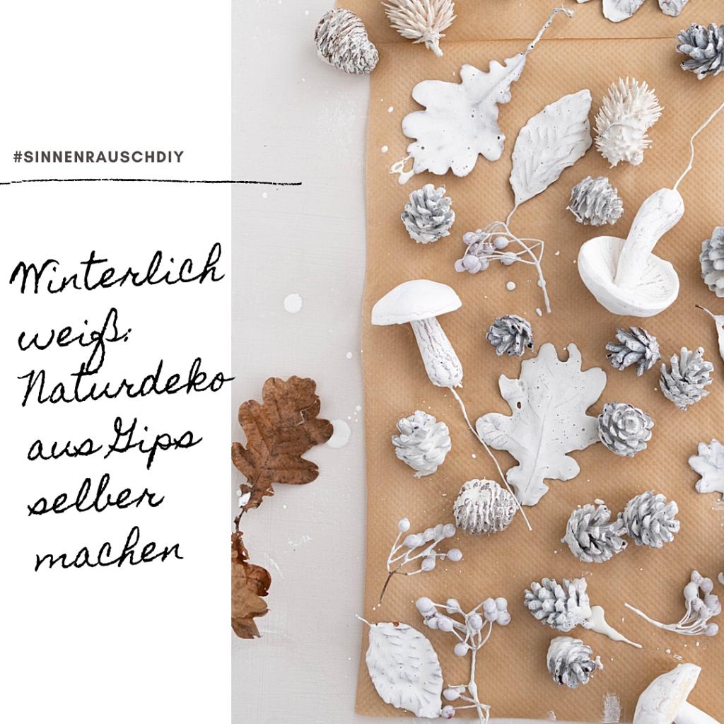 Kreativ-Adventskalender #14: Weihnachtlicher Gips-Schmuck