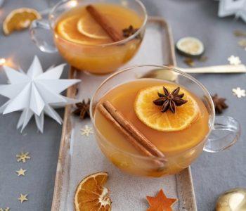 Glüh-Gin mit Apfel und Zimt