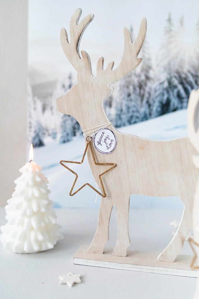 Kreativ-Adventskalender #18: Deko-Hirsche aus Holz sägen