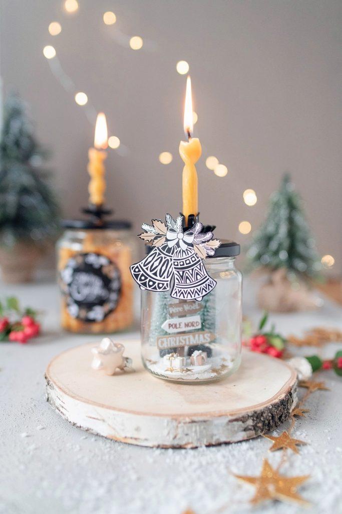 Weihnachtsgeschenkglas + Bienenwachskerzen selbst einschrauben
