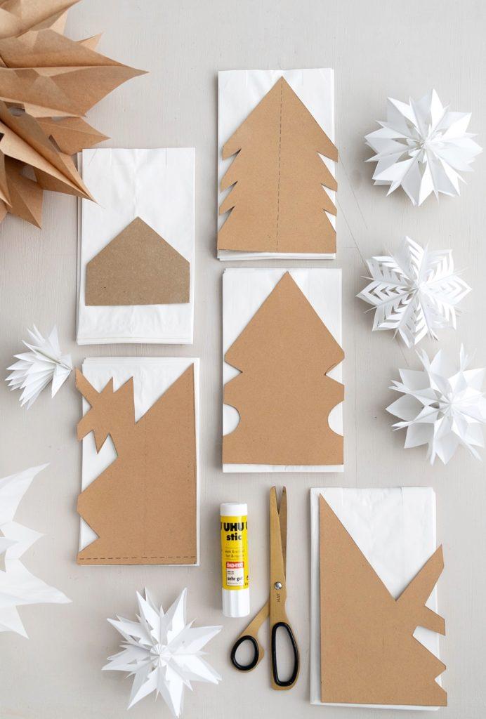 Papiertuetensterne Basteln Weihnachten Weihnachtsstern