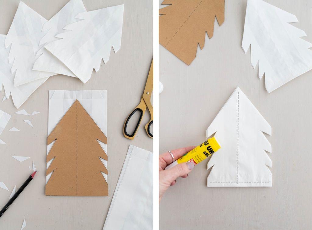 Einfacher Diy Weihnachtsstern Aus Butterbrottuten 5