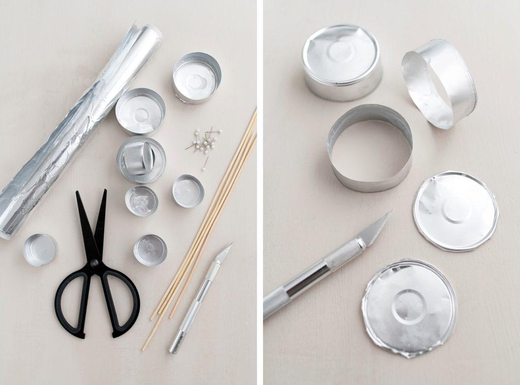 Kreativ-Adventskalender #22: Recycelte Tannenbäumchen aus Teelichthülsen