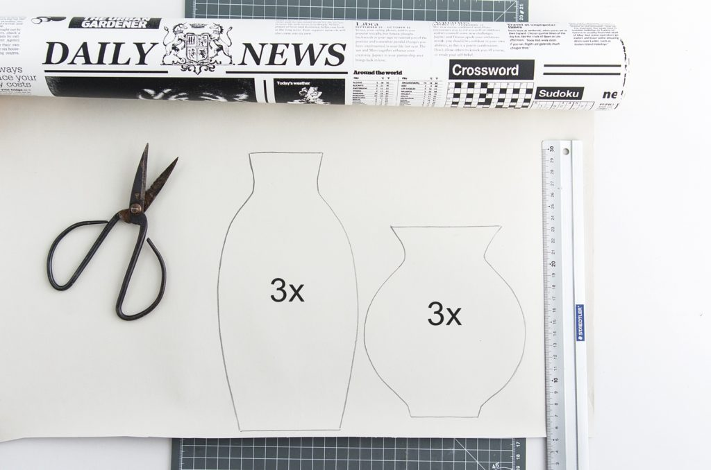 DIY | Einfache Papiervasen in 3D-Optik selber nähen #diy #sinnenrauschDIY